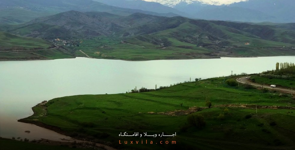 عکس دریاچه سد طالقان